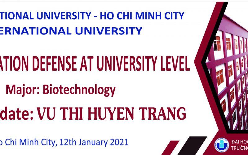 NCS. Vũ Thị Huyền Trang bảo vệ thành công luận án tiến sĩ cấp trường