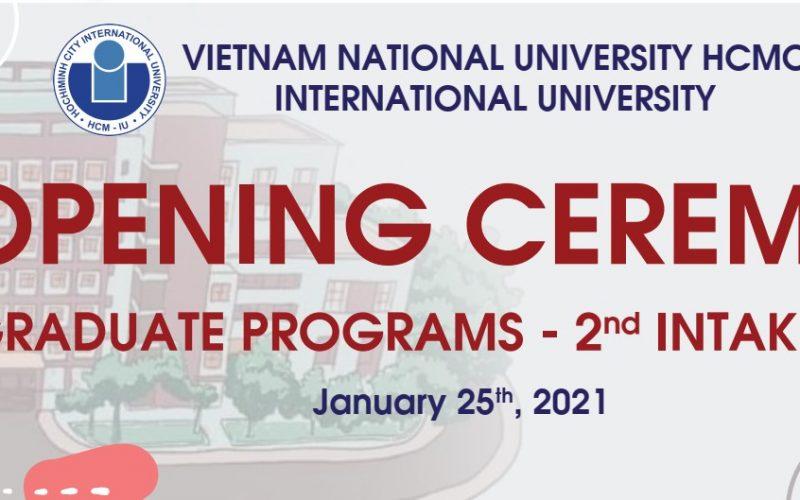 Lễ khai giảng chương trình Sau Đại học của khóa tuyển sinh đợt 2 năm 2020