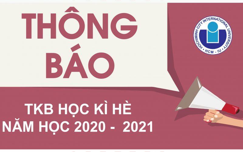 Thông báo Thời khóa biểu học kì hè năm học 2020 – 2021