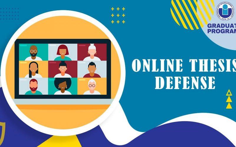 Online thesis defense at International University